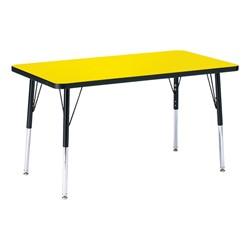 Rectangle Preschool Activity Table - Yellow