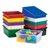 Plastic Cubby Storage Bins, Trays & Lids