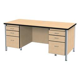 Teacher's Desk - Shown w/ Double Pedestals