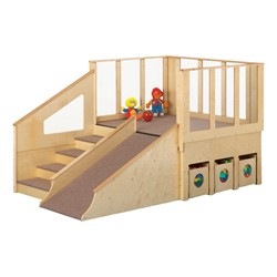 Tiny Tots Play Loft w/ Wooden Bins - Ages 1 to 2
