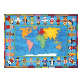 Hands Around the World Rug - Rectangle