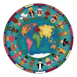 Hands Around the World Rug - Round