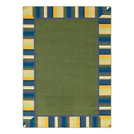 Clean Green Rug - Rectangle - Bold Colors
