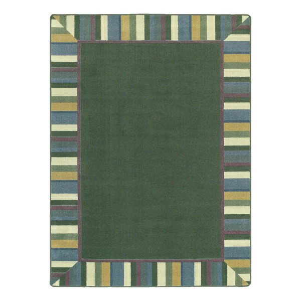 Clean Green Rug - Rectangle - Soft Colors