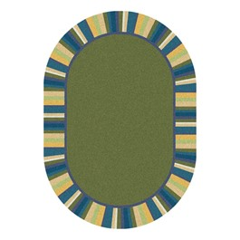 Clean Green Rug - Oval - Bold Colors