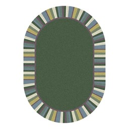Clean Green Rug - Oval - Soft Colors