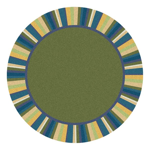 Clean Green Rug - Round - Bold Colors