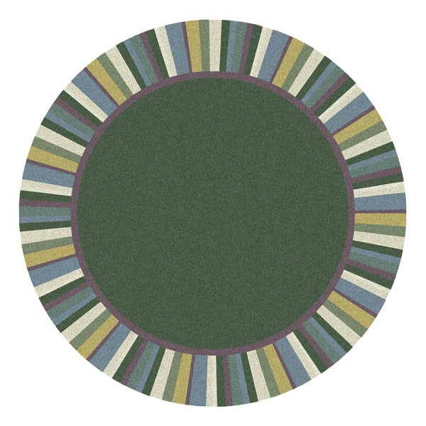 Clean Green Rug - Round - Soft Colors