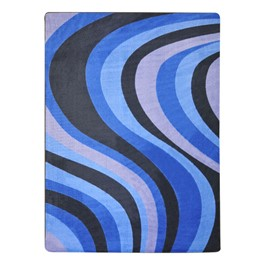 On the Curve Rug - Blue
