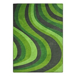 On the Curve Rug - Green