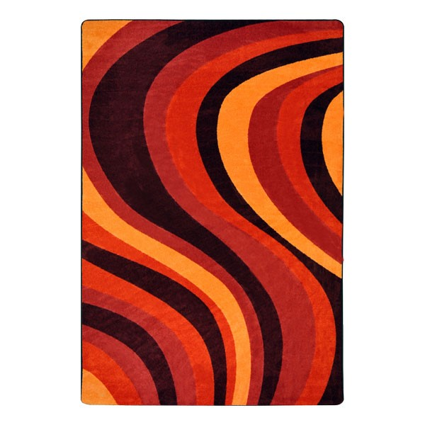 On the Curve Rug - Red