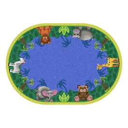 Jungle Friends Rug - Oval