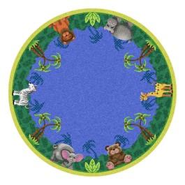 Jungle Friends Rug - Round