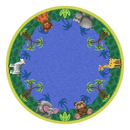Jungle Friends Rug - Round
