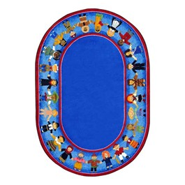Children of Many Cultures Rug - Oval