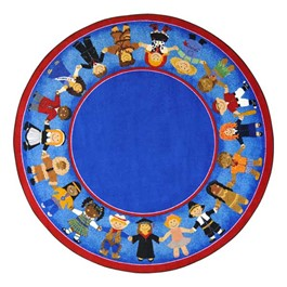 Children of Many Cultures Rug - Round