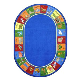 Animal Phonics Rug - Oval