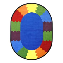 Block Party Rug - Oval