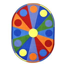 Color Wheel Rug - Oval
