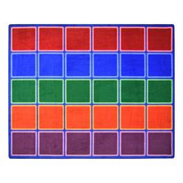 """Blocks Abound Rug (7\' 8\"""" W x 10\' 9\"""" L)"""