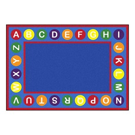 Alphabet Spots Rug - Rectangle