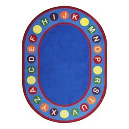 Alphabet Spots Rug - Oval