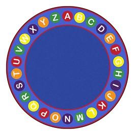 Alphabet Spots Rug - Round