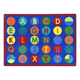 Alpha-Dots Rug - Primary colors