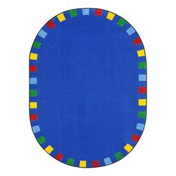 On the Border Rug - Oval - Bright