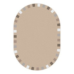 "On the Border Rug - Oval (7' 8"" W x 10' 9"" L) - Neutral"