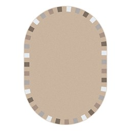 On the Border Rug - Oval - Neutral
