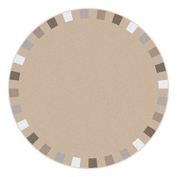 On the Border Rug - Round - Neutral