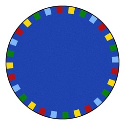 On the Border Rug - Round - Bright