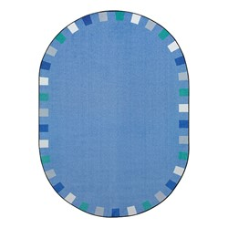 "On the Border Rug - Oval (7' 8"" W x 10' 9"" L) - Soft"