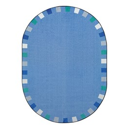 "On the Border Rug - Oval (7\' 8"" W x 10\' 9\"" L) - Soft"
