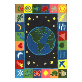 EarthWorks Preschool Rug - Rectangle