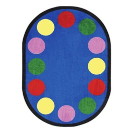 Lots of Dots Rug - Oval