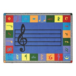 Note Worthy Rug - Elementary Version