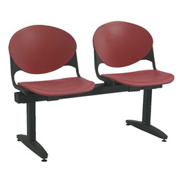 2000 Series Beam Seating – Two Seats – Burgundy