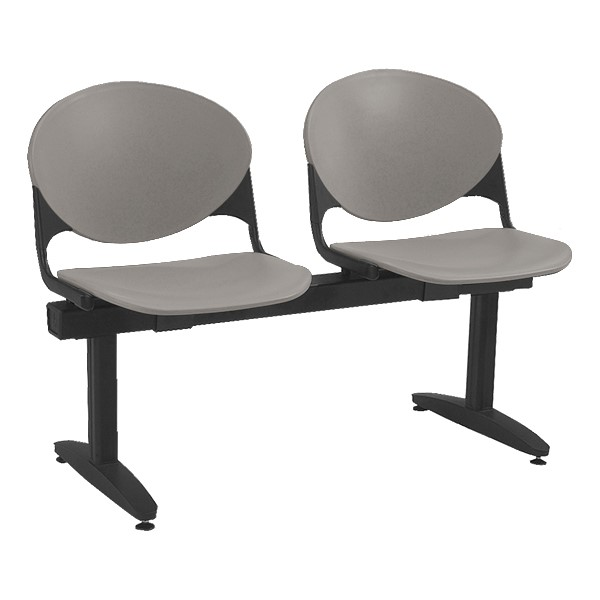 2000 Series Beam Seating – Two Seats – Cool gray
