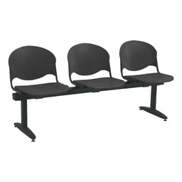 2000 Series Beam Seating - Three Seats - Charcoal