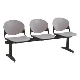2000 Series Beam Seating – Three Seats - Cool gray