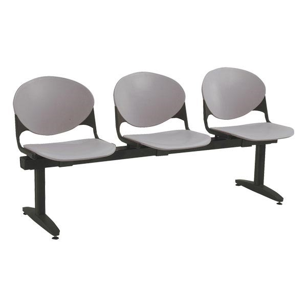 2000 Series Beam Seating – Three Seats - Cool gray