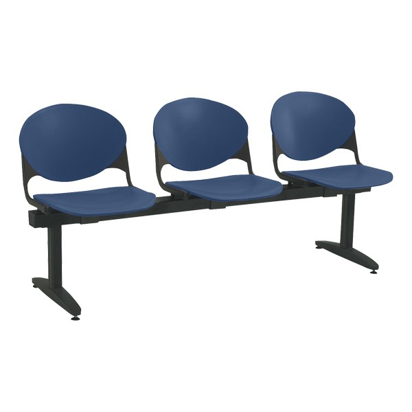 2000 Series Beam Seating - Three Seats - Navy