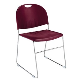 2100 Series Stack Chair - Burgundy