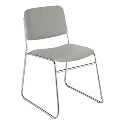 300 Stack Chair w/out Arm Rests - Vinyl Upholstered Seat - Gray