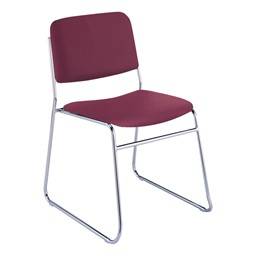 300 Stack Chair w/out Arm Rests - Vinyl Upholstered Seat - Port
