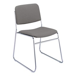 300 Stacking Chair w/out Arm Rests - Fabric Upholstered Seat - Gray