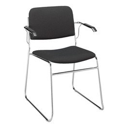 300 Stack Chair w/ Arm Rests - Fabric Upholstered Seat