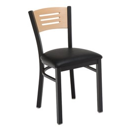 3315B Series Café Chair - Vinyl Upholstered Seat